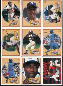 Details About 1991 Upper Deck Baseball Hank Aaron Heroes Complete Set 10