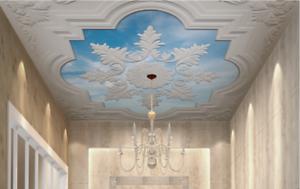 3D Snowflake Carving 7 Ceiling Wall Paper Print Wall Indoor Wall Murals CA Lemon
