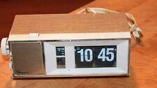 Vtg Ingrahm Flip Alarm Clock Model 59-022 McGraw Edison Co Faux Wood Grain