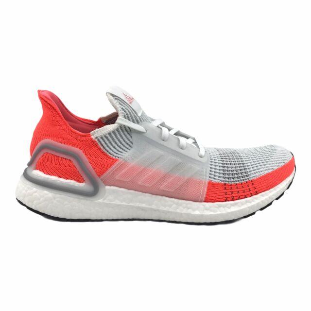 Adidas Ultraboost 19 Mens Shoes Size US 8 UK 7.5 | White Orange Sneakers