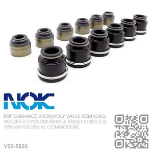 NOK-VALVE-STEM-SEALS-6-CYL-RB30E-amp-RB30ET-TURBO-3-0L-HOLDEN-VL-COMMODORE-BT1