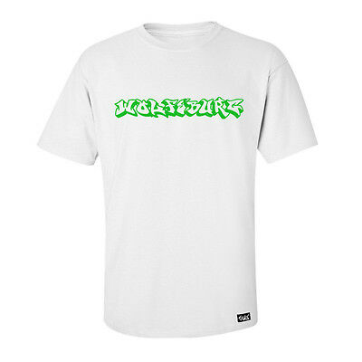 "EAKS® Herren T-Shirt ""WOLFSBURG GRAFFITI"" weiß Hip Hop Städte Shirt Fußball Auto"