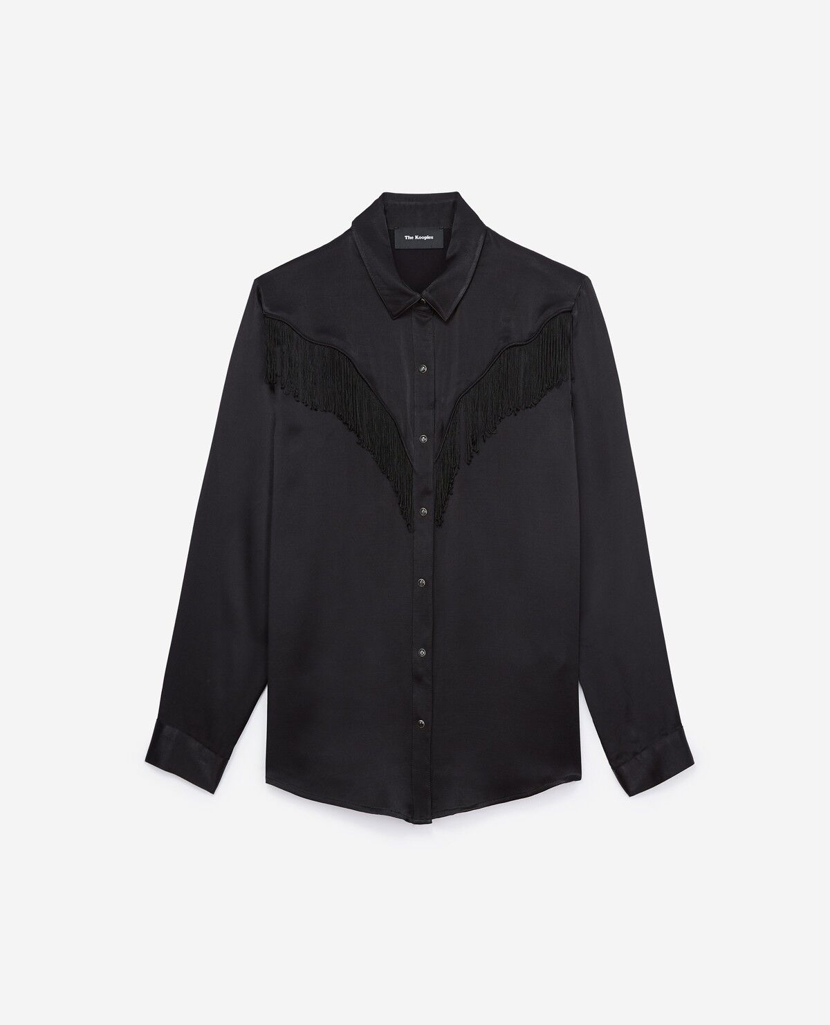 The Kooples Viscose Satin Shirt With Edging - U.K.10 - Brand New With Tags