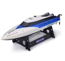 High Speed RC Racing Boat 7011 Double Horse 4 Channel 2.4Ghz - Blue - US Seller