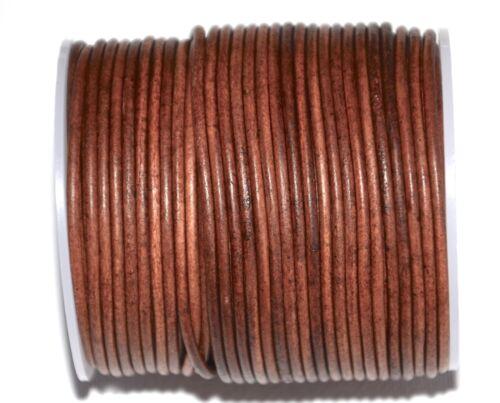2.5mm alta calidad cordón cuero redondo bisutería,2,5mm cuero de marrón