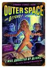 Outer Space Pin Up Metal Sign ( Greg Hildebrandt )