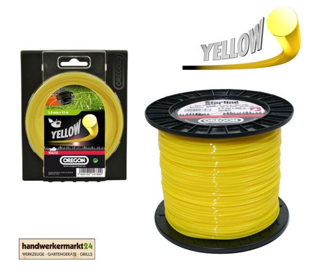 OREGON Freischneidefaden Mähfaden Trimmerfaden rund gelb 2,0 2,4 2,7 3,0 3,5 4,0