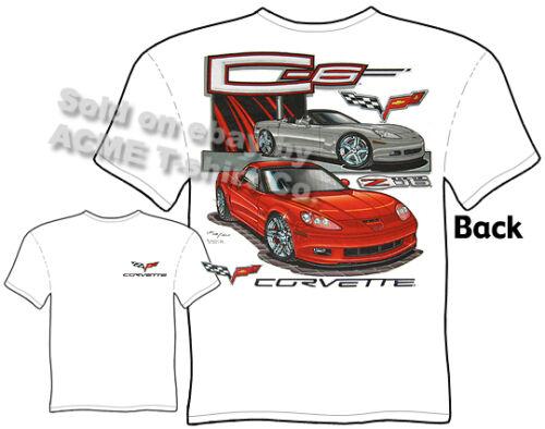 C-6 Corvette Tee Chevy C6 Vette T Shirt Convertible Sports Car Sz M L XL 2XL 3XL