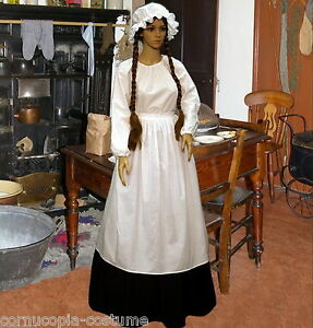 Ladies-Victorian-cook-or-Pioneer-4pc-costume-fancy-dress-UK-sizes-6-20