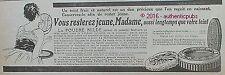 PUBLICITE POUDRE NILDE BOITE ROUGE INVISIBLE DE 1918 FRENCH AD PUB ART DECO