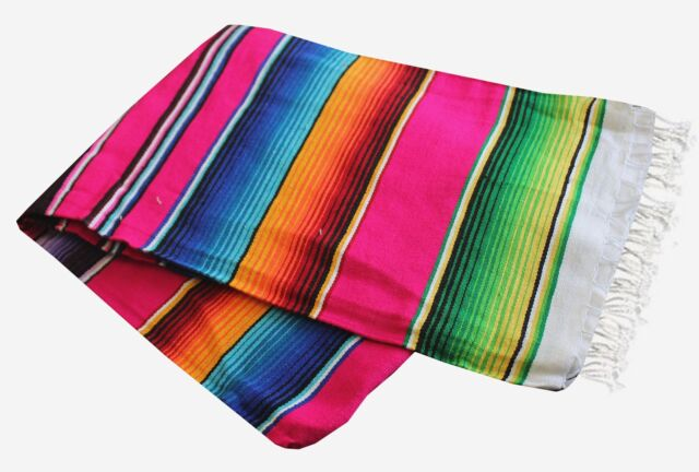 Buy Del Mex Mexican Serape Blanket X-large PINK Blankets Rugs ... 22b146a1d