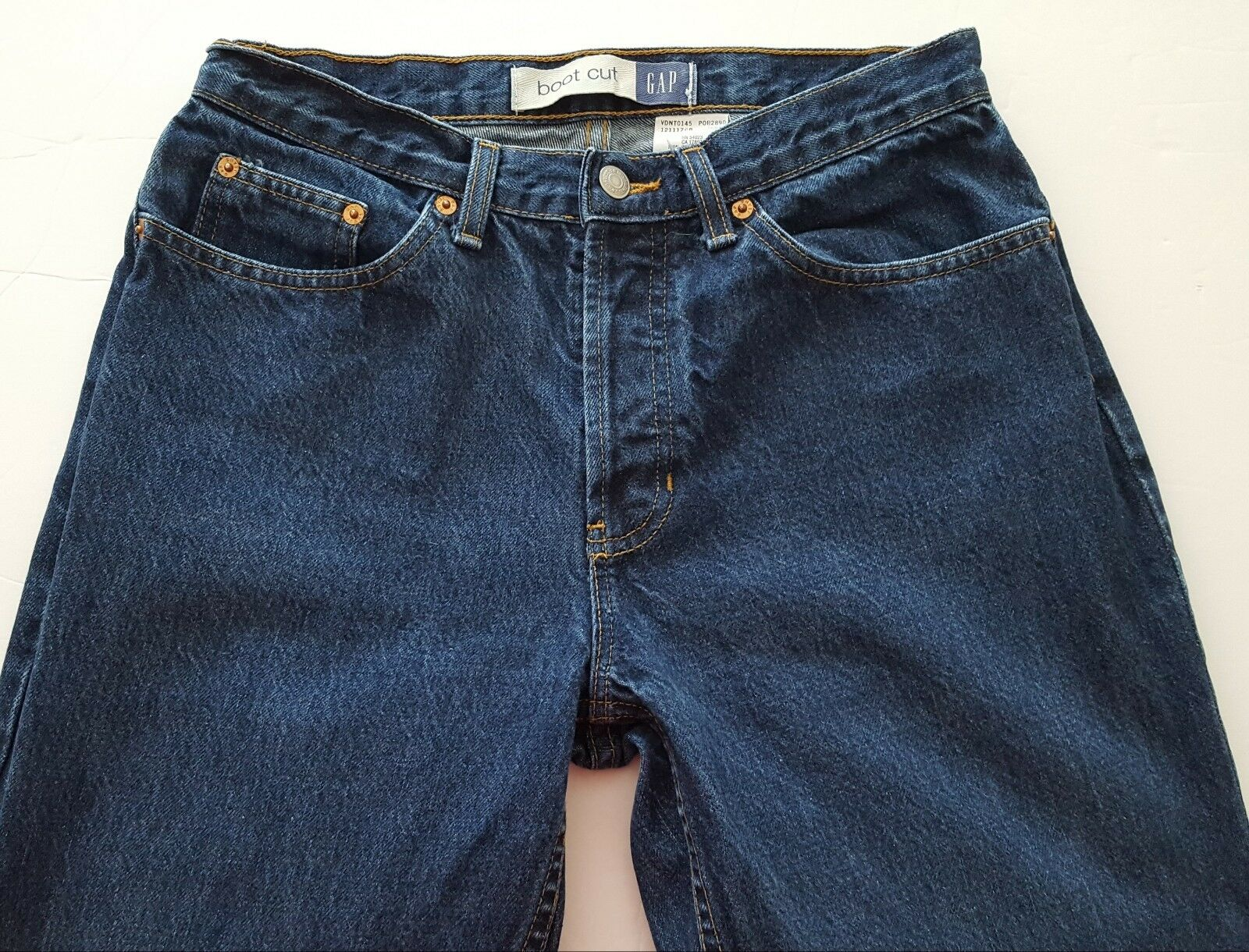 Vintage Gap Women's Boot Cut Jeans Size 8 Long bluee Riveted Denim Made in USA