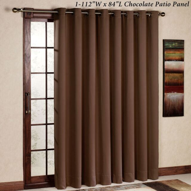 Rhf Thermal Insulated Blackout Patio Door Curtain Panel Sliding Curtains