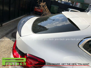 For BMW X4 G02 2018 Real Carbon Fiber CF Rear Trunk Spoiler Wing Lip P Style