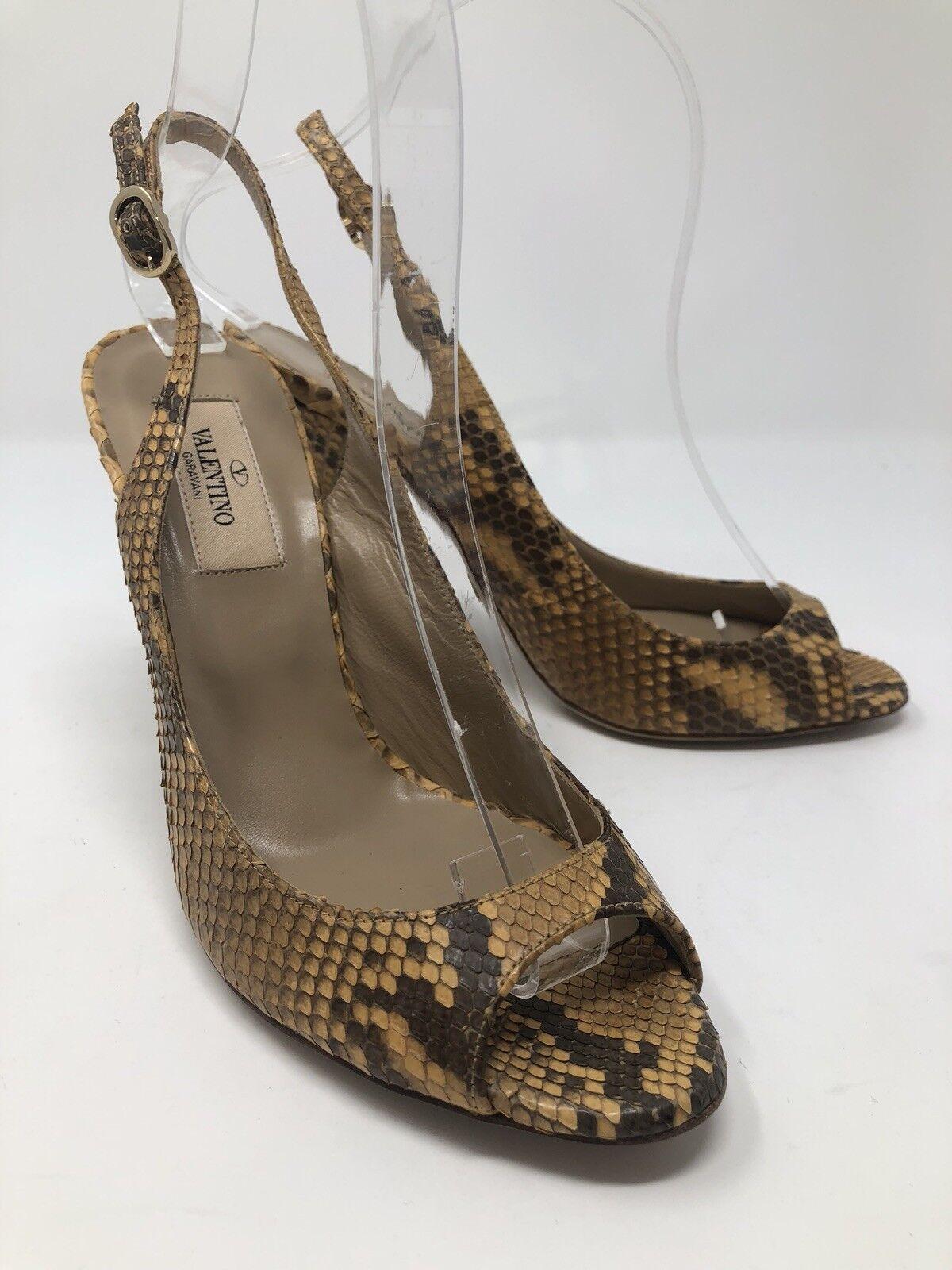 1100 New Valentino Garavani Womens Python Heels Ladies shoes Size 7 US 37 EU