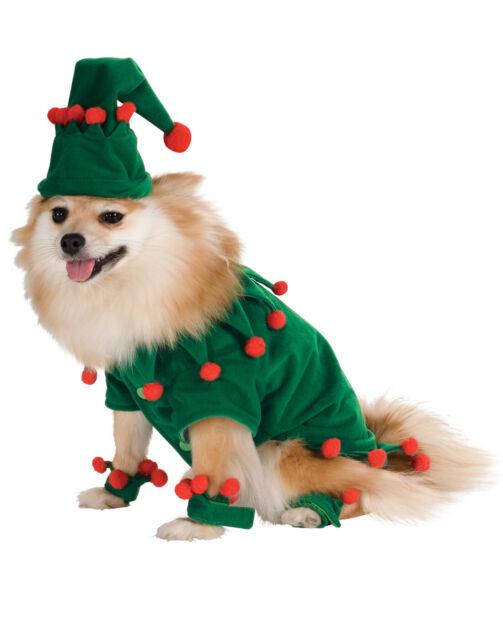 efa8bcf39ef Elf Pet Dog Cat Animal Christmas Holiday Halloween Costume Funny Clothes  Medium
