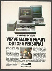 OLIVETTI M20 Personal Computer 1983 vintage Vintage Print Ad