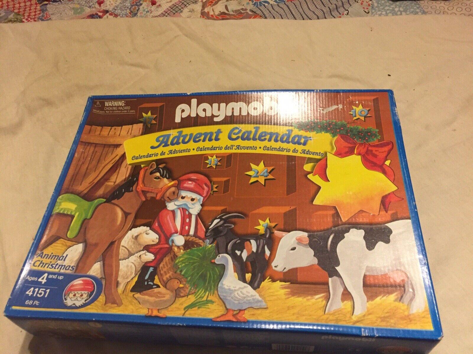 RARE 2004 Playmobil Advent Calendar Animal Christmas Set   4151 nuovo SEALED scatola  consegna veloce
