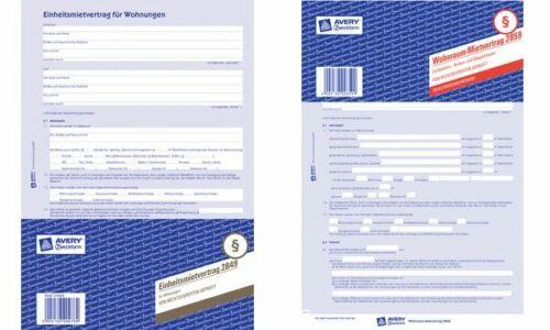 Avery Zweckform Vordruck Testament Set weiß 220x163 1 Stück Formular