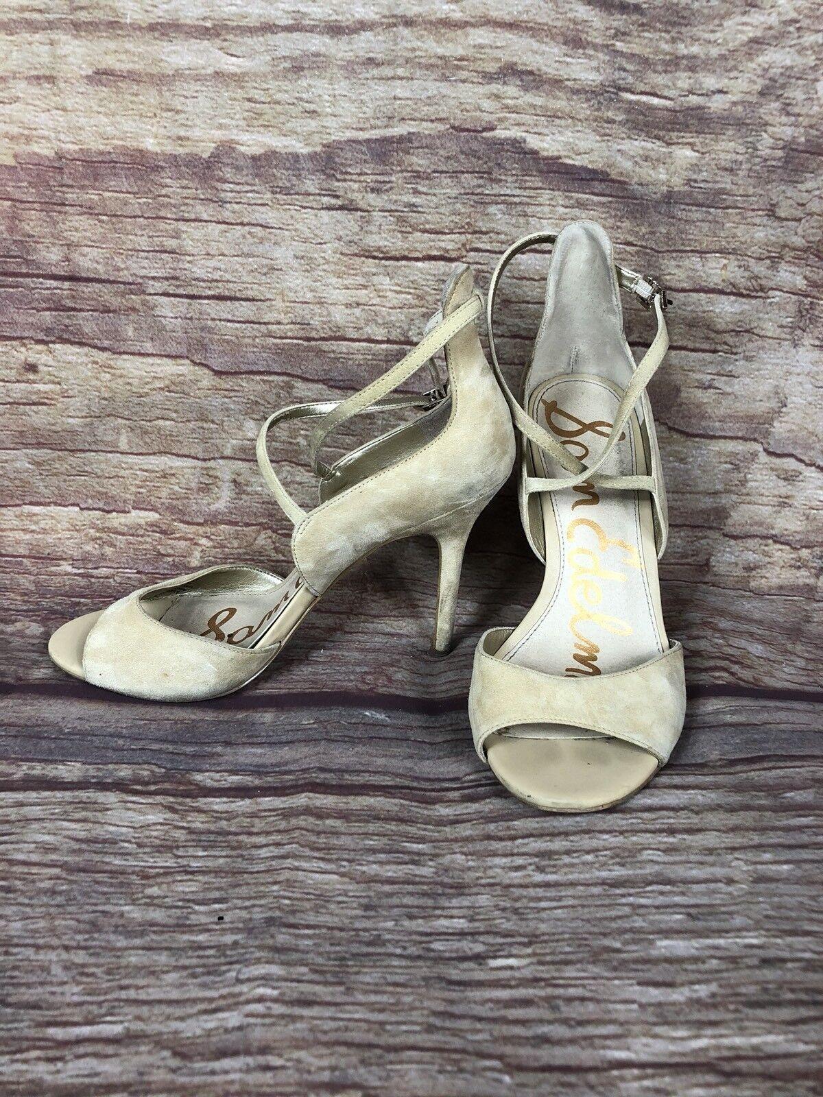 Sam Edelman 7.5 Tan Heels Women Size 7.5 Edelman 4bfe8f