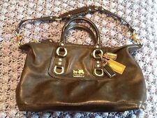 Coach Madison Sabrina Handbag Black Convertible Strap Gold/brass L0871-12937