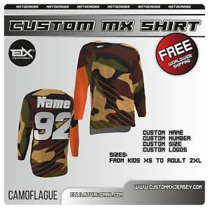 Custom design motocross jersey MX//ATV//Dirtbike//BMX//Mens Kids Race Riding gear