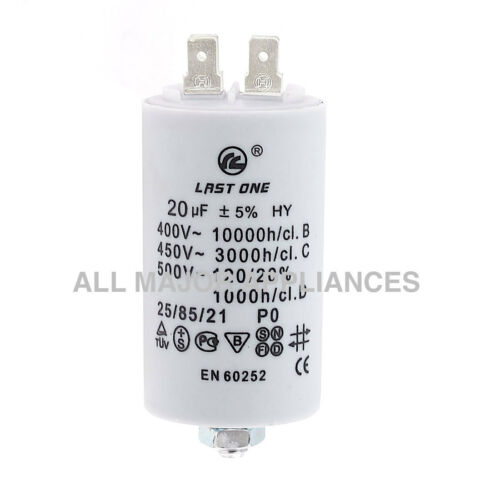 20UF 400-500V 4 TERMINALS COOLROOM FAN PLASTIC ROUND RUN CAPACITOR 20µF