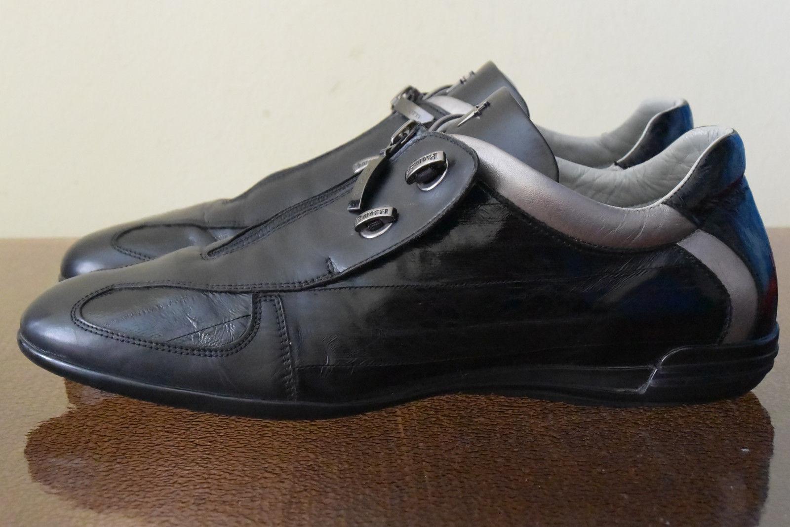 Cesare Pachiotti zapatos negro cuero zapatos Pachiotti (42) 62cc54
