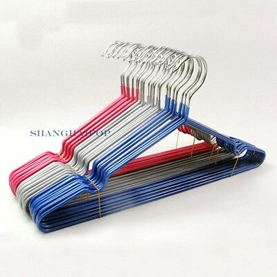 10 X Metal Hanger Clothes Garment Coat Trousers Dress Laundry Storage Thick New
