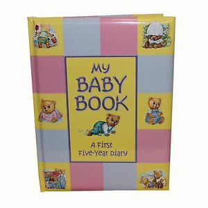 Padded-Baby-Record-Book-Baby-Keepsake-Diary-Birth-to-5-Yrs-for-Baby-Shower