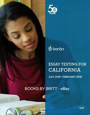 Barbri Bar Exam Essay Testing for CALIFORNIA 2018-2019- BRAND NEW - FREE SHIP