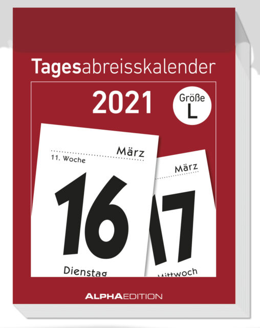 Tagesabreißkalender 2021