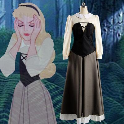 Aurora briar rose costume cosplay princess dress sleeping beauty Costume