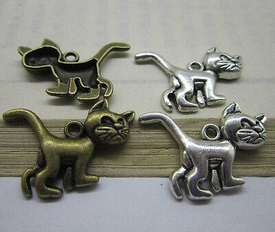 wholesale 10/30pcs Retro Style ancient lovely silver alloy  Charm pendant