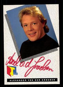 Alexander Von Der Groeben Rtl Autogrammkarte Original Signiert Bc