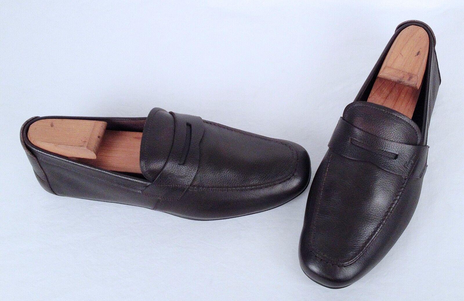 Salvatore Ferragamo 'Nuevo' Penny Loafer- Brown- Size 8.5 2E  520 (J16)
