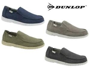 Dunlop-Mens-Soft-Padded-Casual-Comfy-Canvas-Slip-On-Lightweight-Outdoor-Shoes