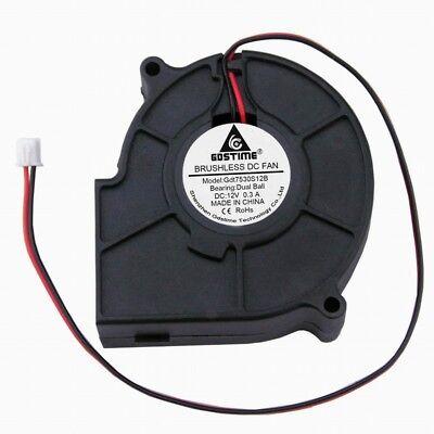 75mm 30mm12V 2Pin 75x30mm Brushless DC Cooling Blower Fan Ball Bearing 0.3A