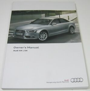 new genuine audi a4 s4 b8 owners manual handbook 11 2012 edition rh ebay co uk owner's manual audi a4 2012 audi a4 owner's manual 2017