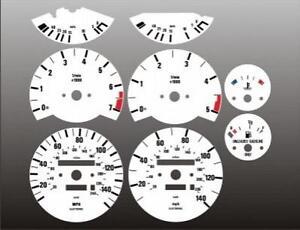 1984-1991-BMW-E30-325-325e-325i-Dash-Cluster-White-Face-Gauges-84-91