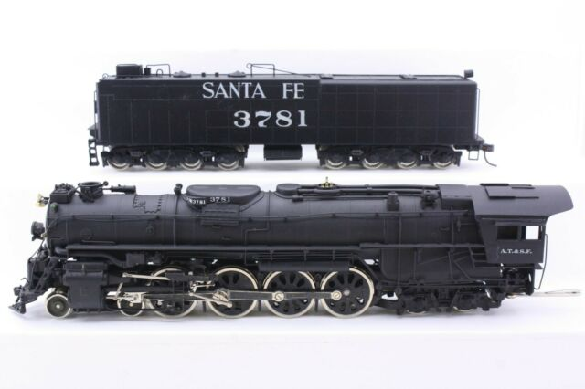 PFM Atlas Brass HO Scale Santa Fe 4-8-4 Northern Locomotive Custom Paint