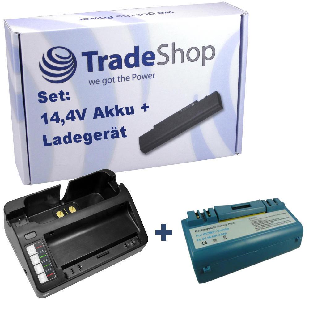 AKKU 4500mAh + LADEGERÄT für iRobot Scooba APS 14904 SP385-BAT, SP5832