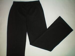 NWT-NEW-womens-ladies-size-S-4-6-black-WHITE-STAG-stretch-ponte-pants-31-inseam