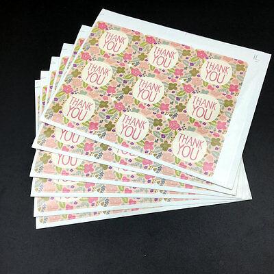Fresh Flower thank you Seal Sticker High Quality Handmade Gift Label Stick 135PC