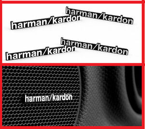 4-x-ALUMINIUM-HARMAN-KARDON-Speaker-Logo-Emblem-Badge-Sticker-BMW-MINI-BENZ-AUDI