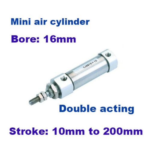 mini cylinders bore 16mm CDJ2B double acting small pneumatic piston cylinder