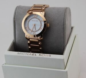 558b376c3e0a NEW AUTHENTIC MICHAEL KORS JANEY CRYSTALS ROSE GOLD WOMEN S MK3530 ...