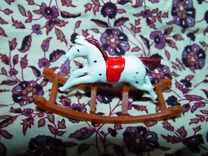 12th Scale Vintage 'barton' Style Rocking Horse For The Doll House Nursery Renforcement Des Nerfs Et Des Os