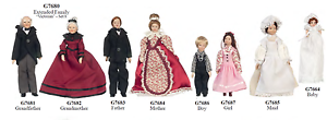 New In Box Victorian Extended Family set porcelain doll mini miniature people