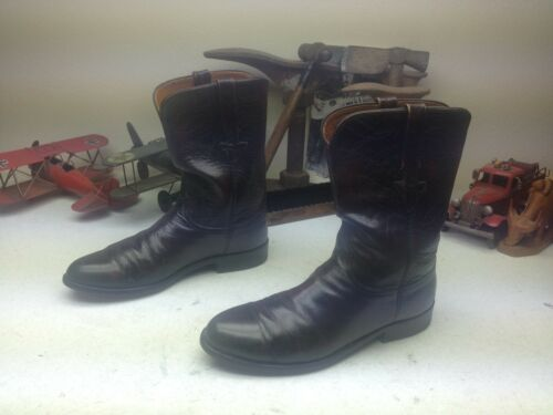 DISTRESSED LUCCHESE MADE IN USA BLACK CHERRY LEATH